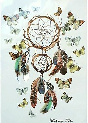 Dreamcatcher with Purple Birds Temporary Stickers Body Art Tattoo Waterproof uk