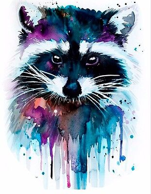 Racoon Animal Temporary Tattoo Sticker 3D Waterproof 3d Body Art Tattoos Adults