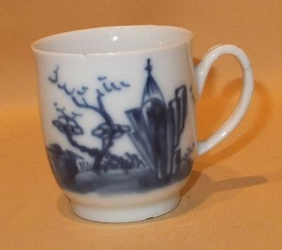 Chinese Export Gazebo Pattern Coffee Cup Copying Worcester Shape C1760-70