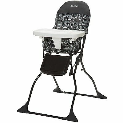 Cosco Adjustable Tray Simple Fold High Chair with Built-In Cup Holder, Mapleton