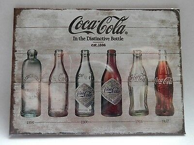 COCA COLA Bottle Timeline - Retro Magnet by Nostalgic Art