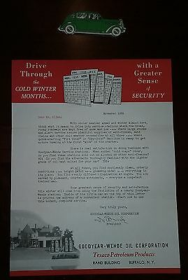 Goodyear-Wende Oil Corporation, Texaco Petroleum Products Winter Driving Letter