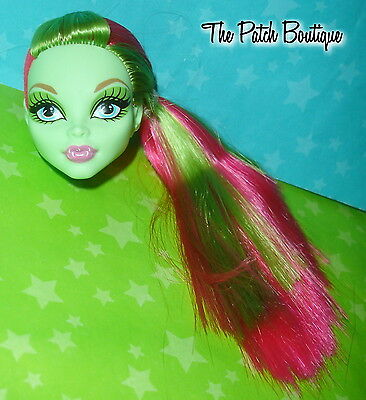 Monster High Swim Class Beach Beasties Venus Doll Head For Replacement Ooak