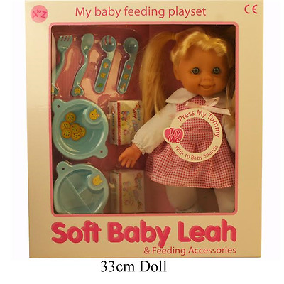 Baby Leah Feeding Doll with 10 Sounds and Accessories Girls Toy Gift