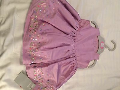 Beautiful M&S Silk Baby Dress Age 3-6 Months