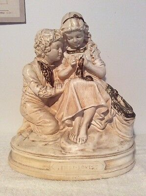First Love Vintage Chalkware Statuary C. Hennecke Co.