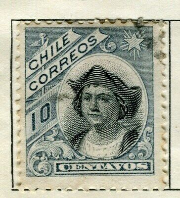 CHILE;   1905 early Columbus issue used 10c. value