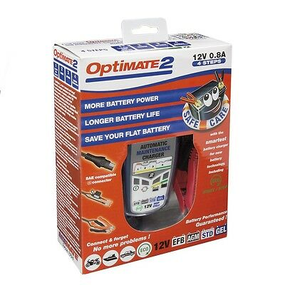 Optimate 2 battery charger maintainer for lead acid AGM MF gel 12V 0.8A