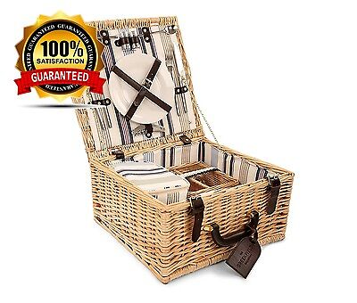 Greenfield Collection Chilworth Willow Picnic Hamper for Two People