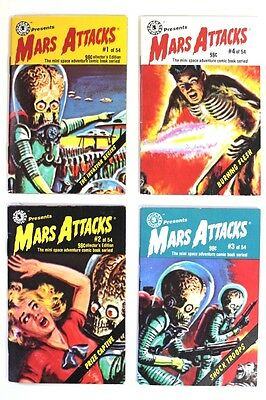 Topps Pocket Comics Sci Fi Mars Attacks Issues 1-4 Mini Comic Books Lot [A32]