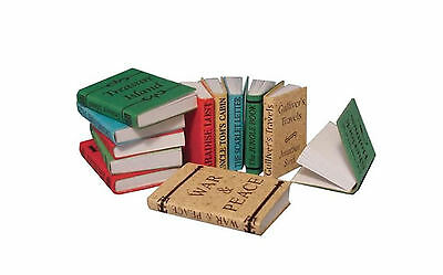 Miniature Books For Display - 1/12 Scale - Set Of Twelve Books - New - D2349
