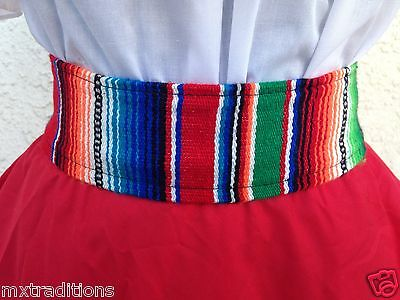 Mexican Sarape Sash Belt  Made In Mexico. Faja De Sarape Hecha En Mex