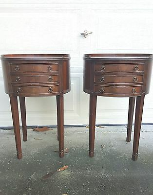 Pair of  federal style 1930's Mahogany SideTables