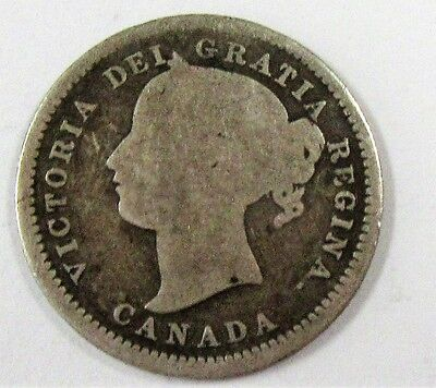 1871 Canada Dime Attractive Coin * Old Canadian Coin