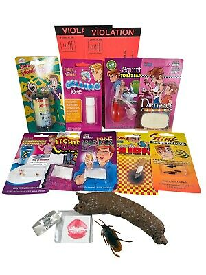 WEEKEND HOUSE PARTY PRANK KIT - Itch Powder Fake Dog Poop Gelling Joke Gag