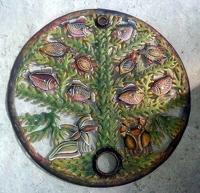 """Tree of Life with Fishes Metal Wall Art Home Interiors Catalog Cute Home, 24"""""""