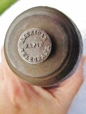 c.1879 AMERICAN RAPID TELEGRAPH CO NY - Antique Telegraphy UNIFORM BUTTON DIE