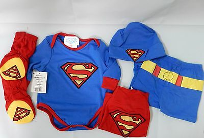 Infant Baby Boys Superman 6 Pc Costume Play Set You Pick Size New