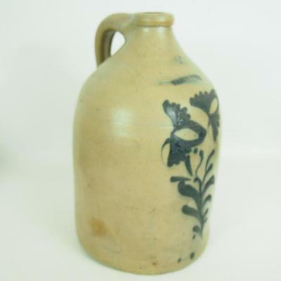 White's Utica New York 2g Jug Antique Cobalt Stoneware Earthenware