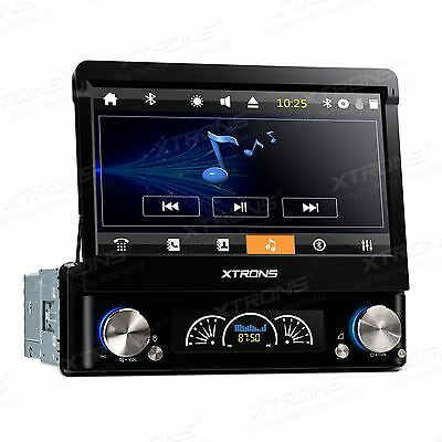 Single 1 DIN Car CD DVD Player Head Unit Stereo GPS Sat Nav DAB+ Radio Bluetooth