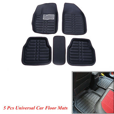 5pcs Universal Car Floor Mats Floorliner Front & Rear Carpet Mat For All Weather