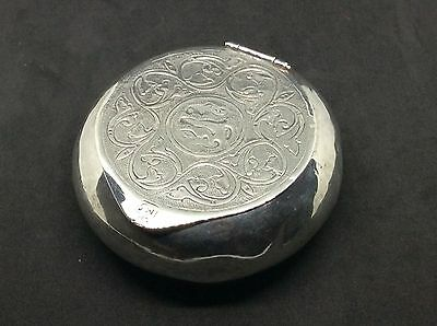 c1900 Solid silver Turkish Middle Eastern Snuff Box 76 Grams