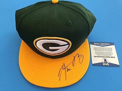 Aaron Rodgers Green Bay Packers Brand New Hat Signed Auto Beckett BAS COA