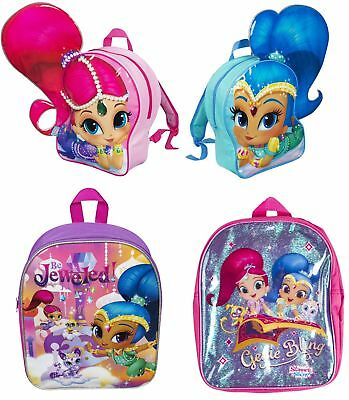 Girls Shimmer And Shine Backpack Kids School Lunch Book Bag Nursery Rucksack