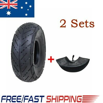 2Sets 3.00-4 Front&Rear Tyre Tire + Tube 49/47cc Mini Pocket Quad ATV Dirt Bike