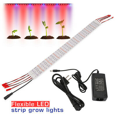 5X 0.5M 25W LED Plant Grow Light Strip Bar For Greenhouse Hydroponic Indoor Veg