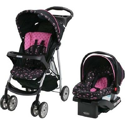 Travel System Stroller with Infant Car Seat Package Pink NEW