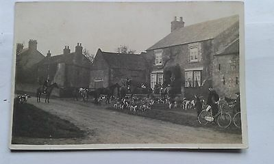 Rp Pc Meet Of Foxhounds Unknown Location - Fox Hounds Hunting Horses
