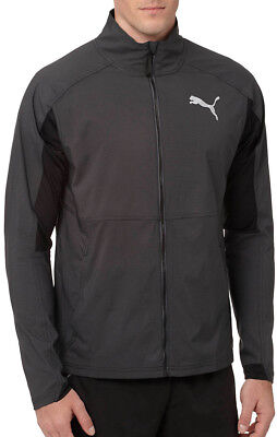 Puma Vent Stretch Mens Running Jacket - Grey