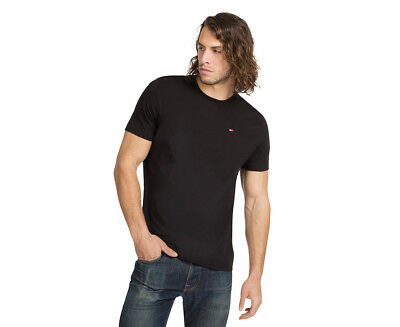 Tommy Hilfiger Men's Flag Crew Tee - Black