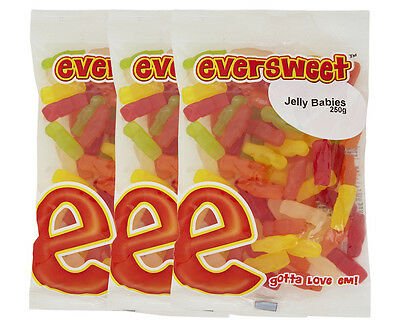 3 x Eversweet Jelly Babies 250g