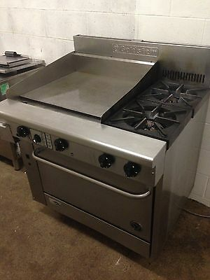 Commercial Stainless Steel 600mm flat plate, oven and 2 burner Goldstein
