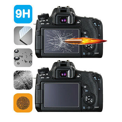 2-Pack Deerekin 9H 2.5D Tempered Glass LCD Screen Protector for Sony A3000 A6000
