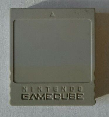 Carte mémoire officielle Nintendo Game Cube grise 59 blocs état correct