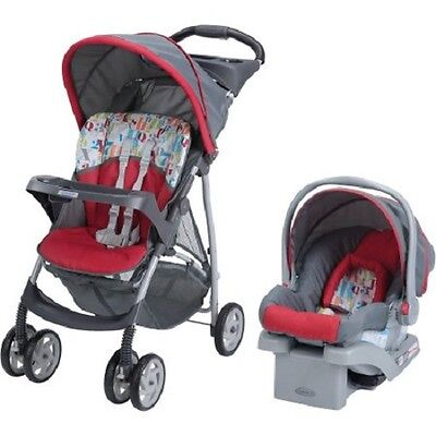 Travel System Stroller with Infant Car Seat Package Red/Gray NEW