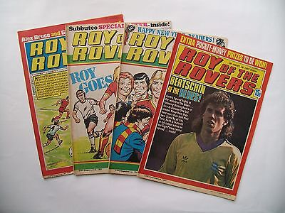 """""""Roy of the Rovers"""" comics.4 issues 1981"""