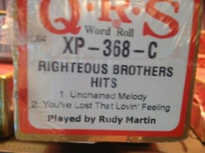 Righteous Brothers 2 Selections . New L/ Play Pianola Player Piano Roll
