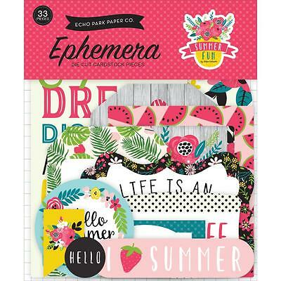 Summer Fun Diecuts Echo Park Die Cuts Cardstock Ephemera