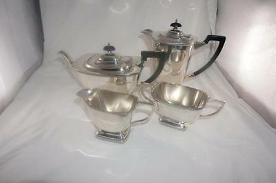 Hecworth Old Sheffield Reproduction Silver Plate Tea service 4 pieces