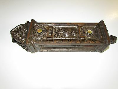 Rare 1890s Elevator Call Button Box Cast Bronze Fancy Mother Pearl  13 ½ Inch