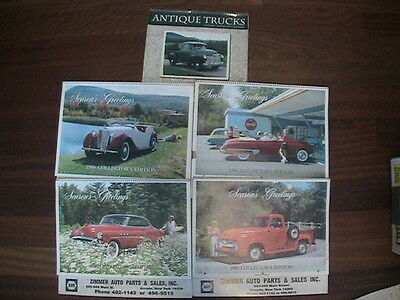 Collectors Edition Antique Vintage Cars and Trucks Calendars - Lot of 5