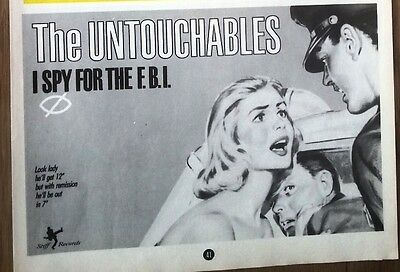 The UNTOUCHABLES I Spy For The FBI UK magazine ADVERT / Poster 8x6 inches