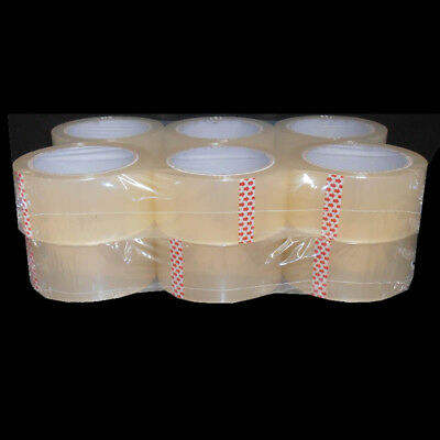 12 Rolls Clear Sticky Packing Sealing Tape 75 Meter x48mm 45 micron