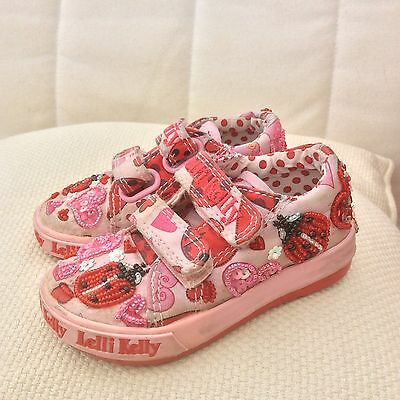 Toddler Girls Lelli Kelly Canvas Shoes Size 5 / 21 Cute