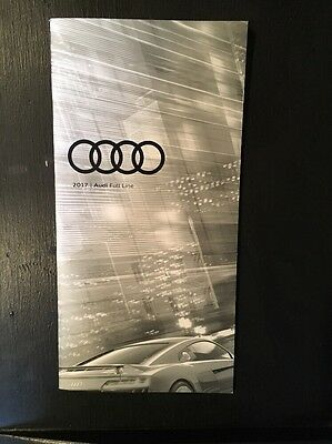 New 2017 Audi Full Line USA Color page Brochure