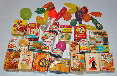 vintage PLAY GROCERY Canned food 1960s Boxed Food, Cans - rj